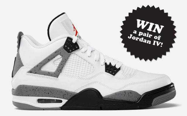 Competition: win a pair of Air Jordan IV's wht/cement!
