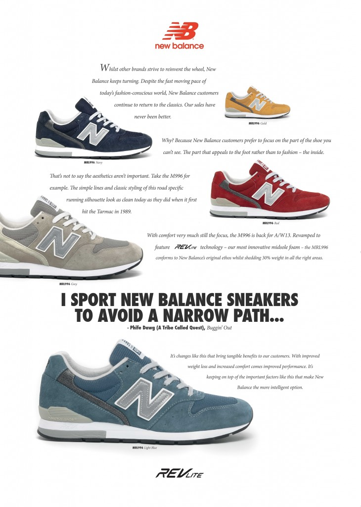 Originally released in 1989, the New Balance M996 instantly became the brands top seller due to its superior support and cushioning.
