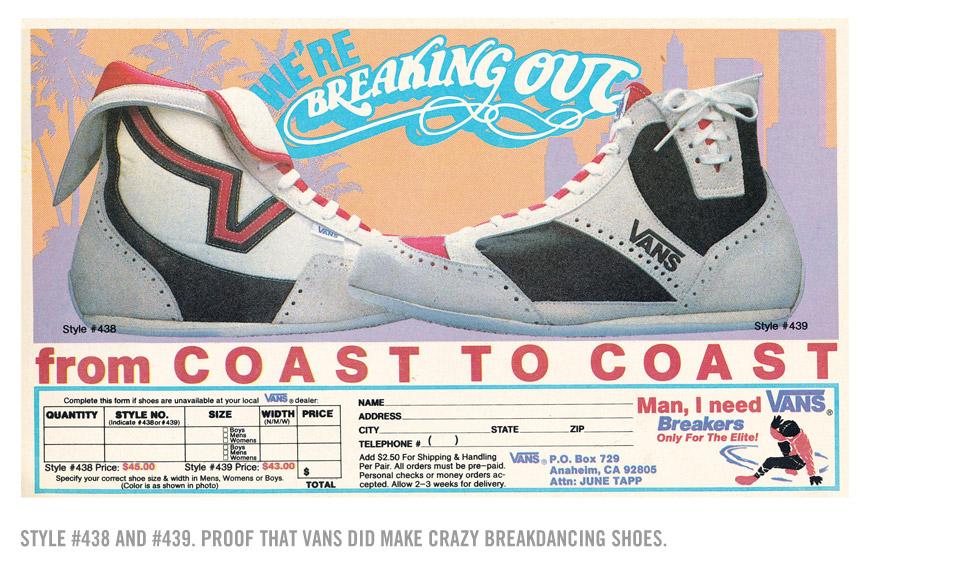 vans skate shoes history