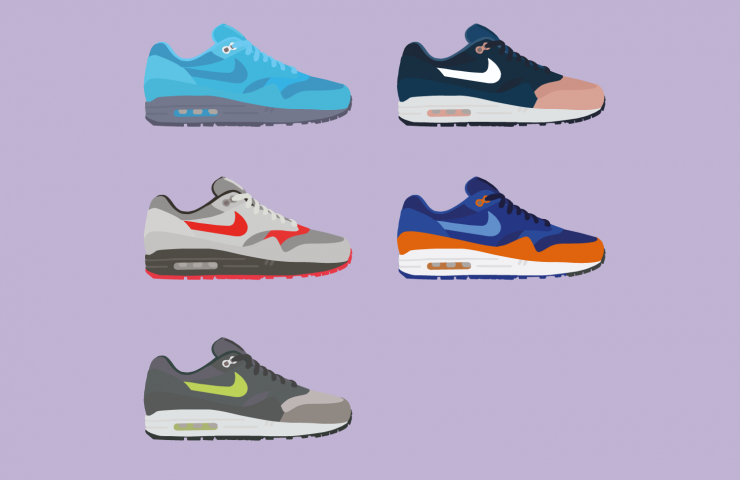 Ronnie Fieg X Nike Air Max 1 illustrations by The Lime Bath