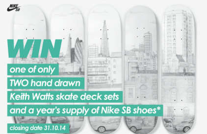 Nike SB Competition – Win a set of Keith Watts skate decks and a year's supply of Nike SB shoes
