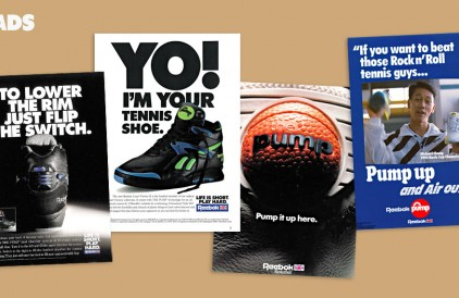 PUMP UP AND AIR OUT! THE History of the Reebok Pump via Sneaker Freaker.