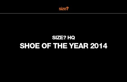 size? HQ's Shoe of the Year 2014