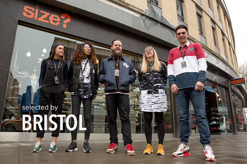 selected by: size? Bristol