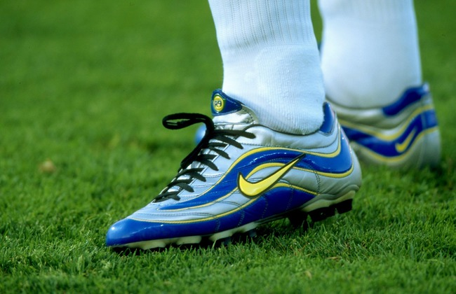 A close-up of Ronaldo's boots