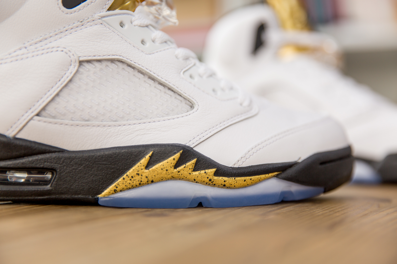 Air Jordan V OG White/Metallic Gold