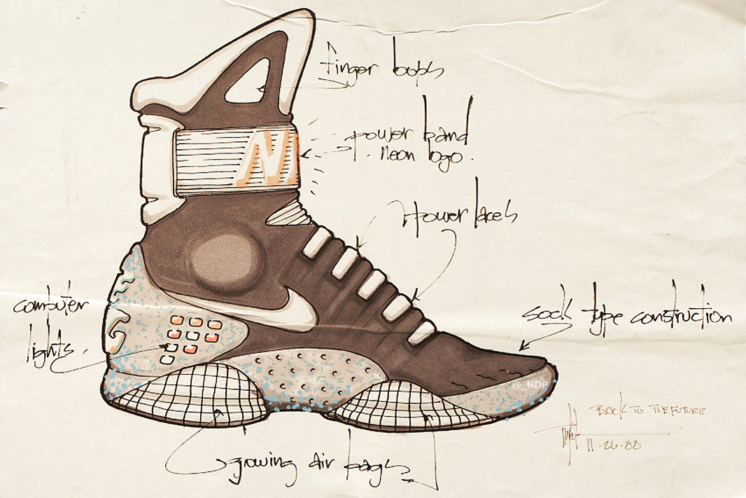Nike Mag – Tinkers Concept Sketches via Nice Kicks