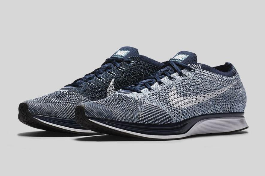 Nike Flyknit Racer Blue/White