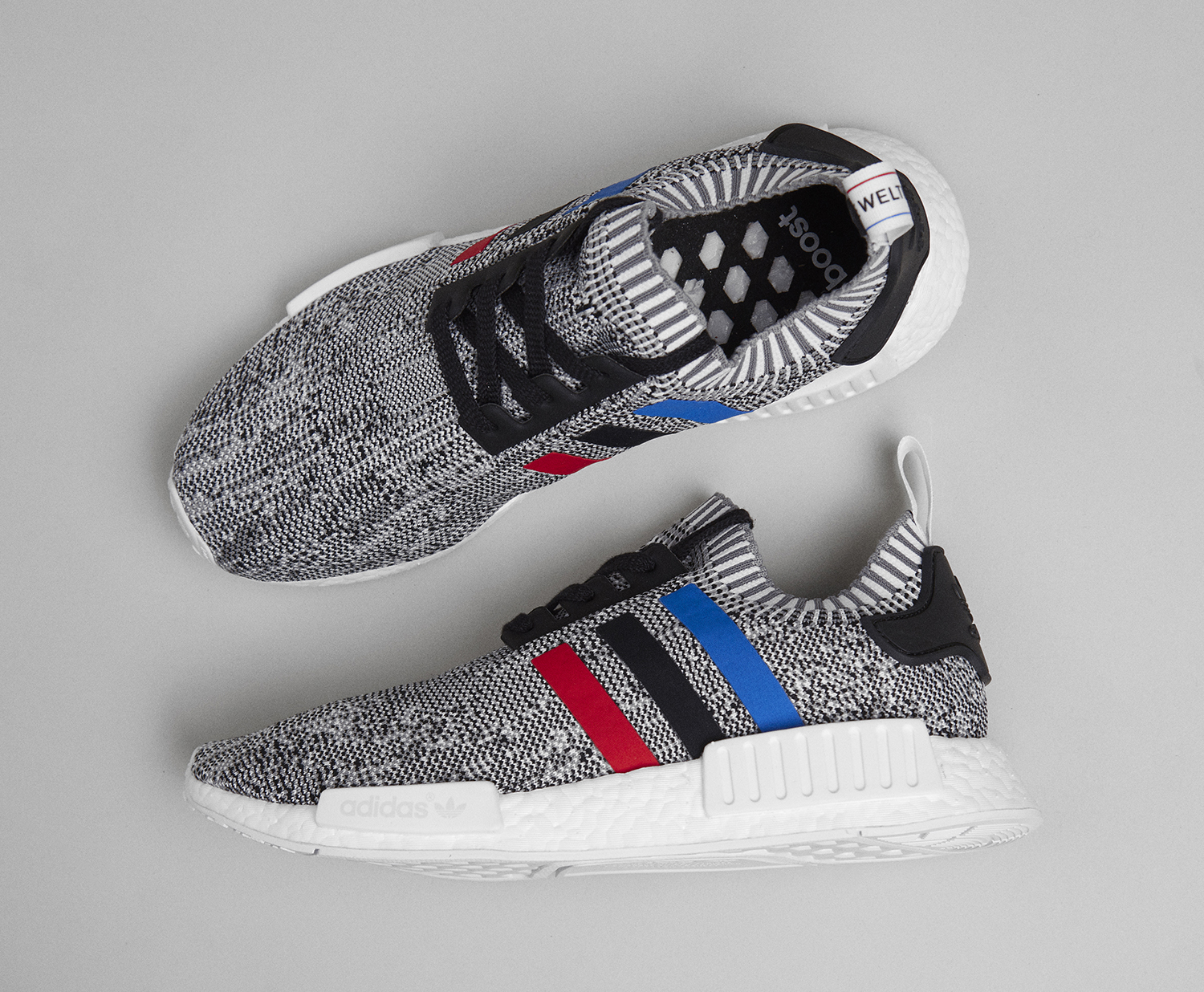 Cheap Adidas mens nmd r1 nomad runner solid grey/white