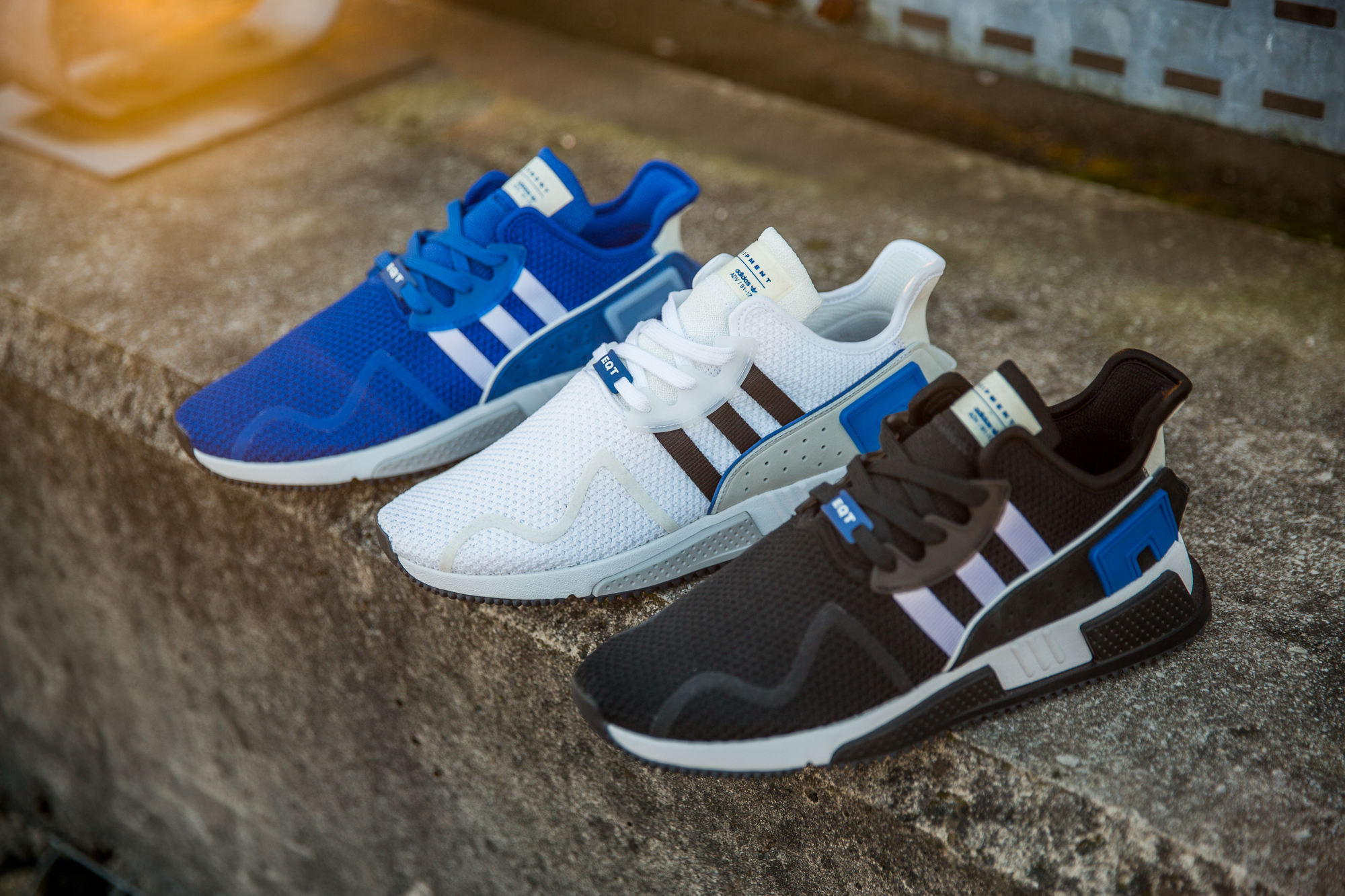 Continuing to add strength to the ever-evolving EQT range, adidas Originals  have produced a three shoe pack based around the original Blue colourway  found ...