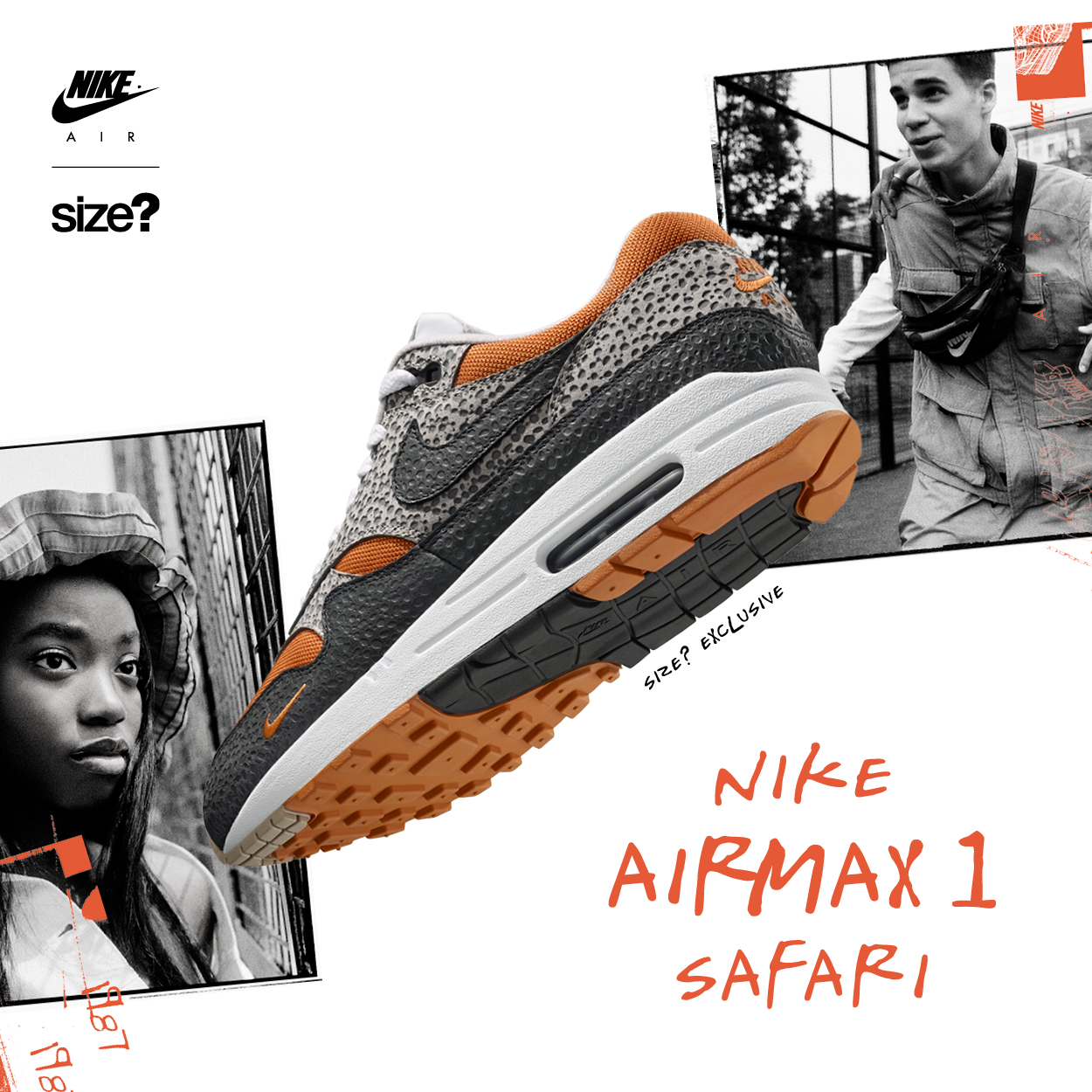 size? Exclusive – Nike Air Max 1 'Safari'