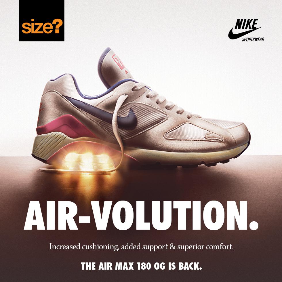 ba4febbf41 Nike Air Max 180 OG Vintage - size? blog