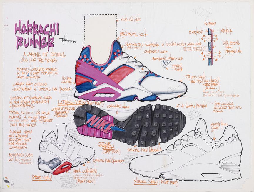 Voici une copie d'une paire de Nike Huarache