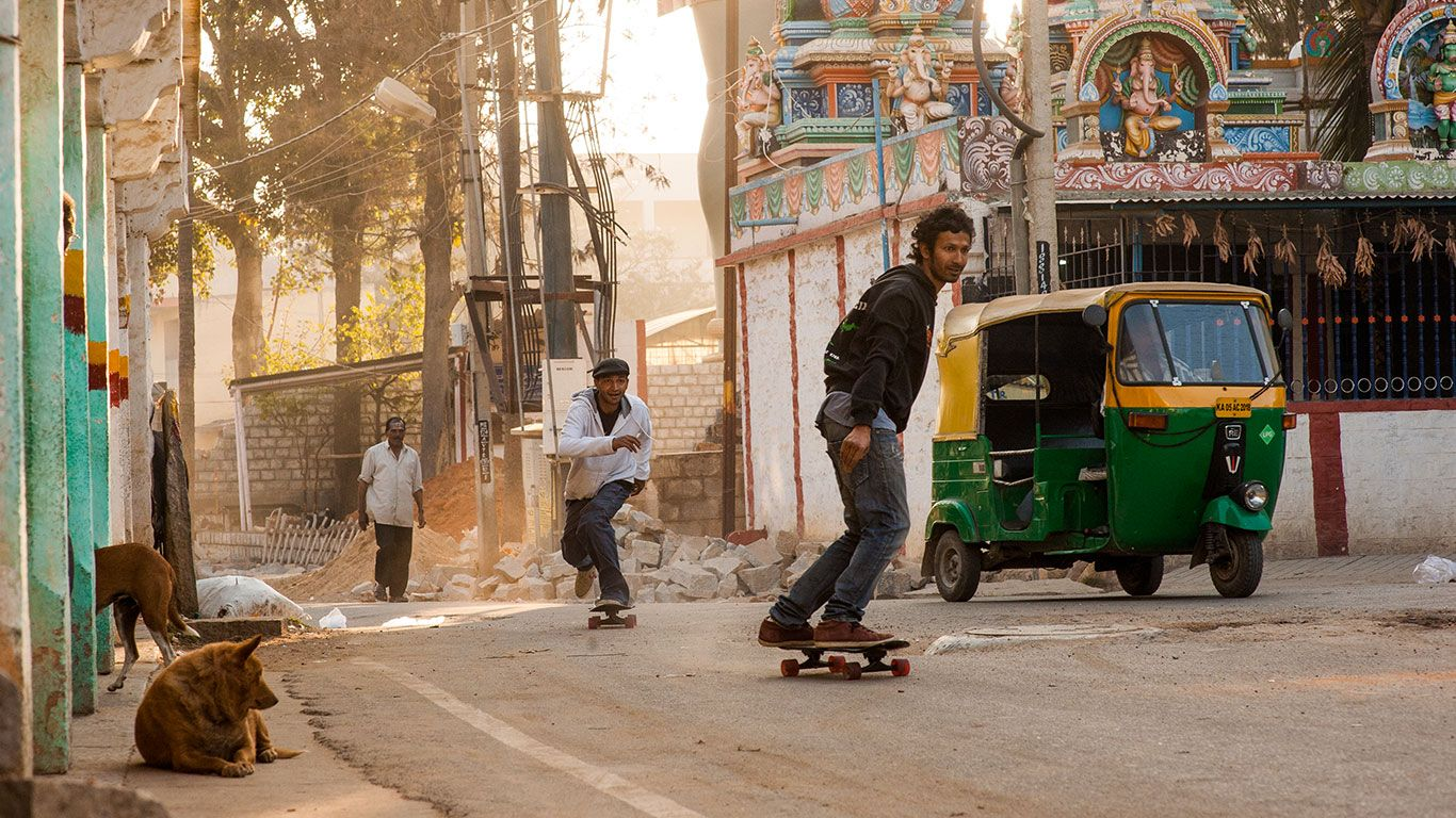 Skateboarding in India by Levi's