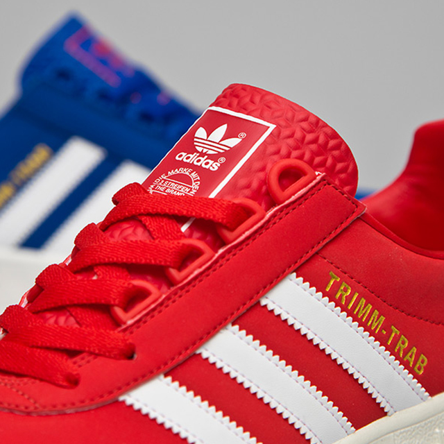 size 40 0a8d0 3d011 adidas Originals Trimm-Trab  Red and Blue  – size  UK exclusive ...