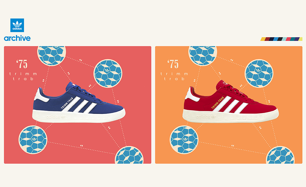 adidas Originals Trimm-Trab 'Red and Blue' – size? UK exclusive