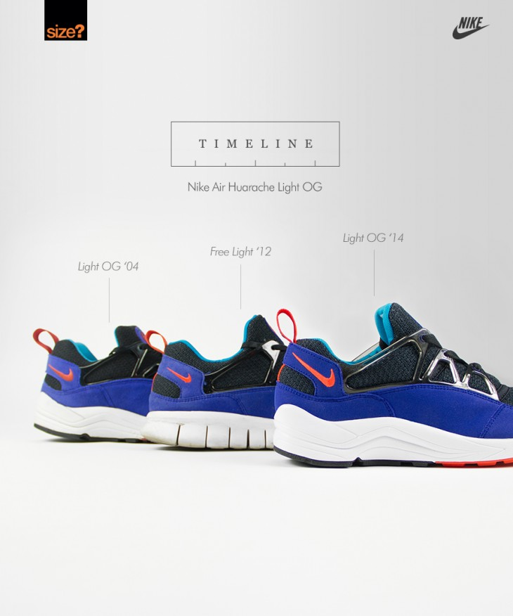 TIMELINE  Nike Air Huarache Light  OG  - size  blog 24f3eb3a2e37