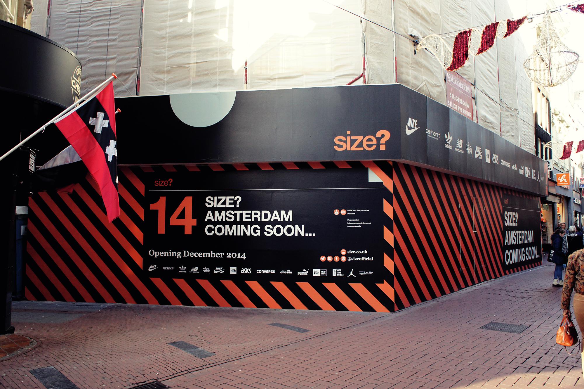 size? Amsterdam: Opening December 2014.