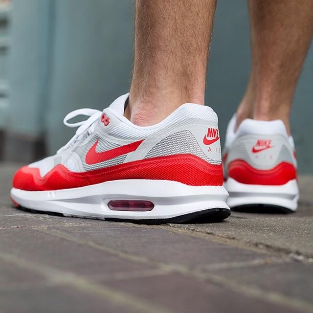 Nike Air Max Lunar1 OG Sport Red On Feet Edition