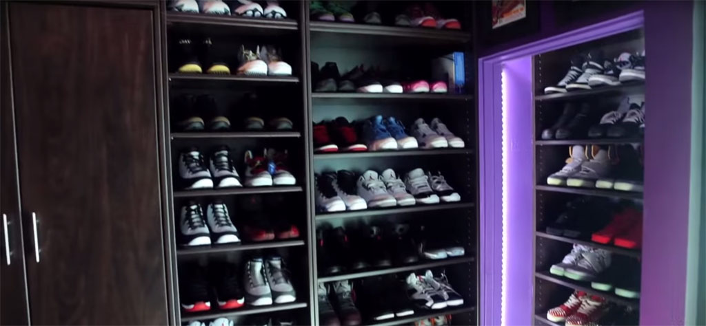 The 15 Best Celebrity Sneaker Closets via Sole Collector