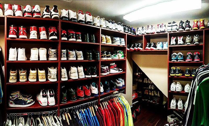 new style b8534 fbf10 The 15 Best Celebrity Sneaker Closets via Sole Collector. - size  blog