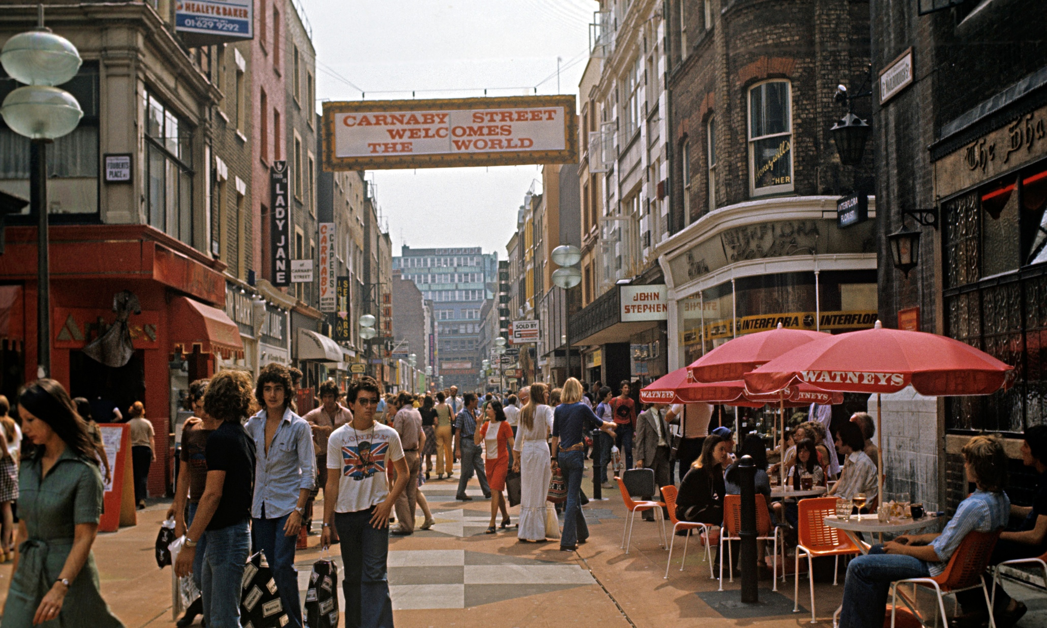 Soho's fashionable Carnaby Street in 1968.