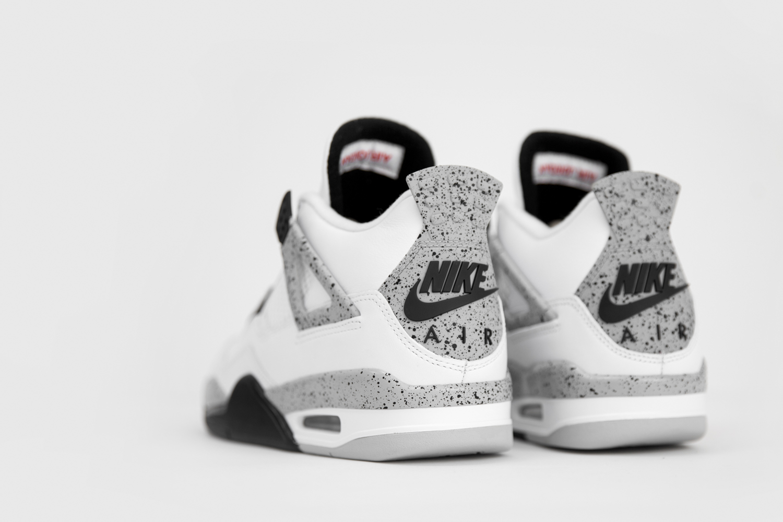 52edd873fa8388 Air Jordan IV White Cement Grey - size  blog