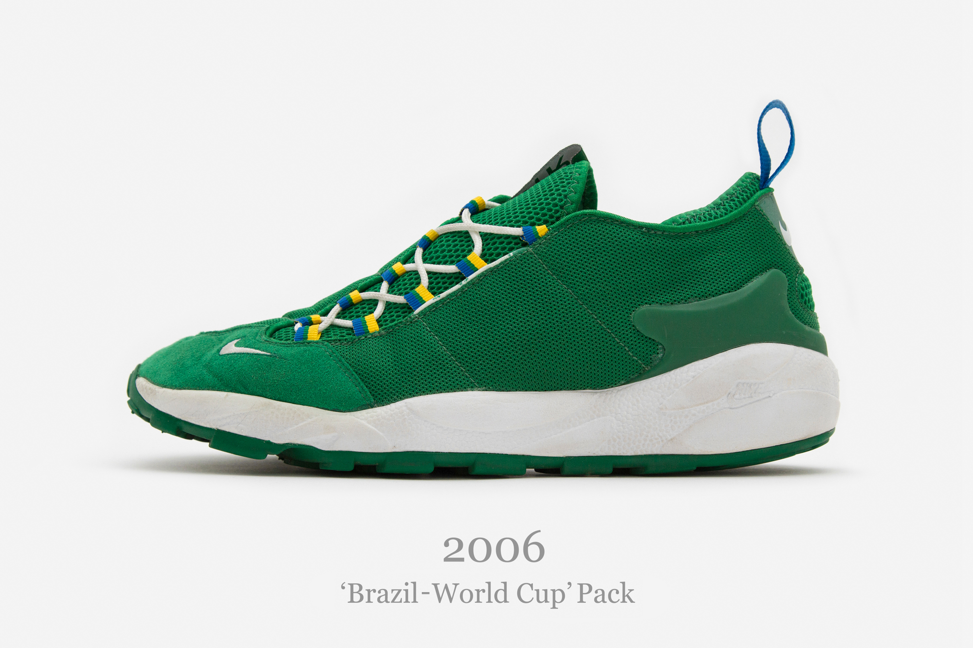 90e9216971904 Nike Air Footscape  Brazil – World Cup  Pack (2006). Released in a pack of  ...