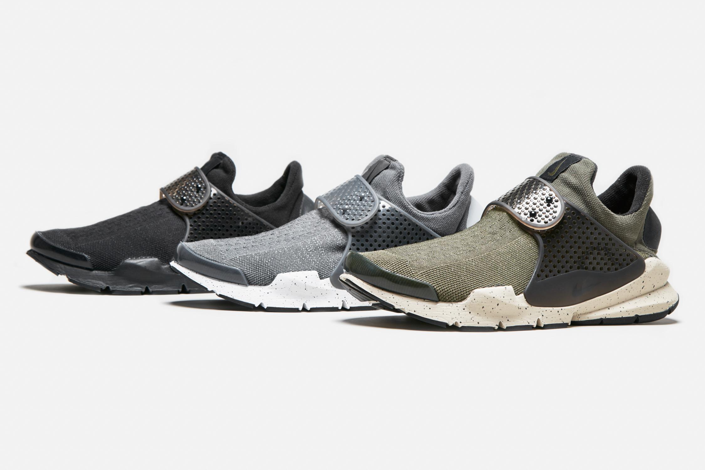 Nike Sock Dart - Wolf Grey, Cargo Khaki & Triple Black