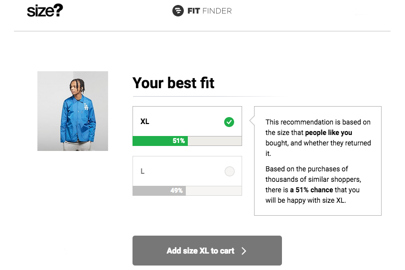 What's your size? Introducing FitFinder
