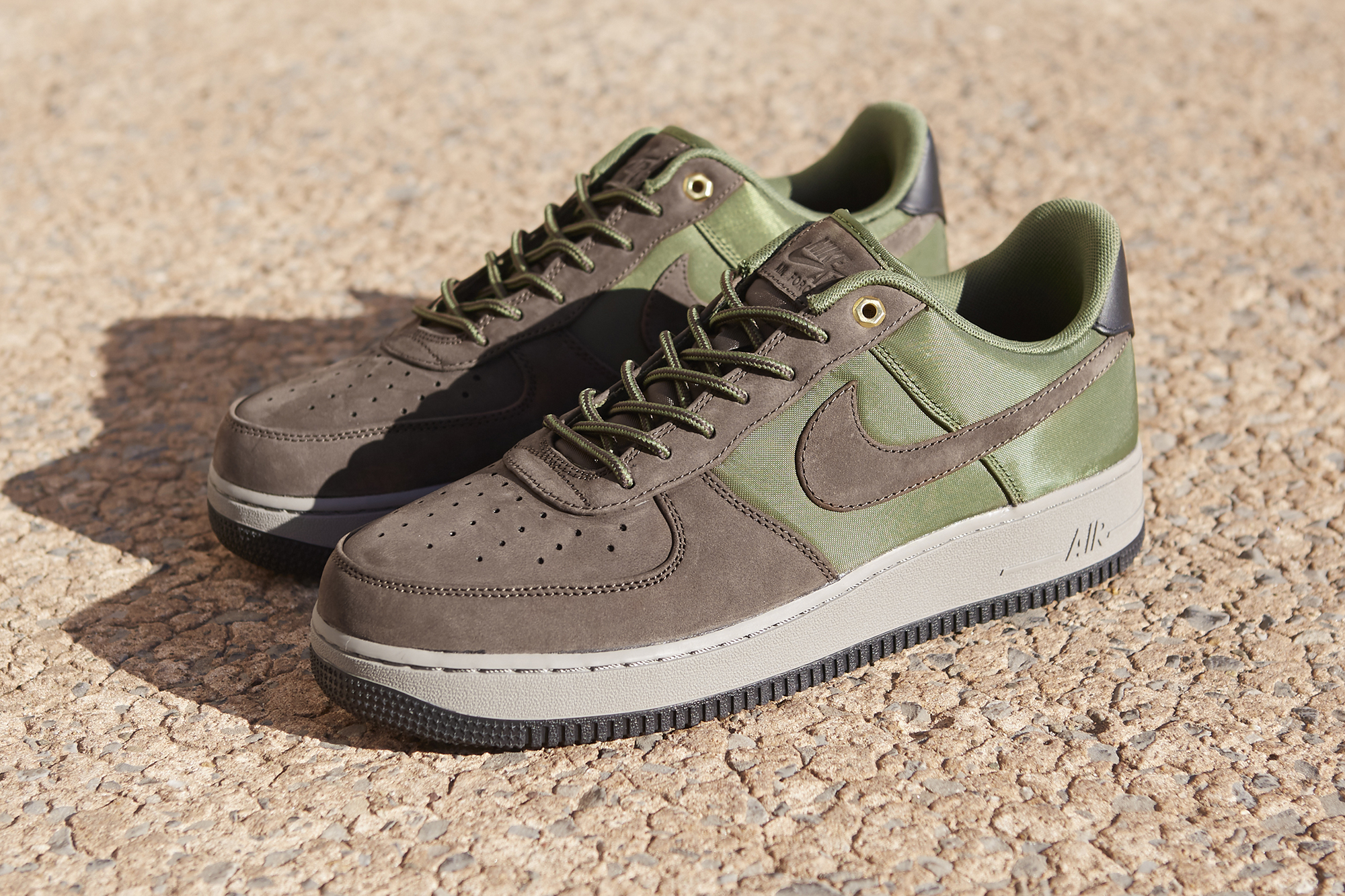 Nike Air Force 1 '07 Premium Low 'Baroque Brown' and 'Army Olive'