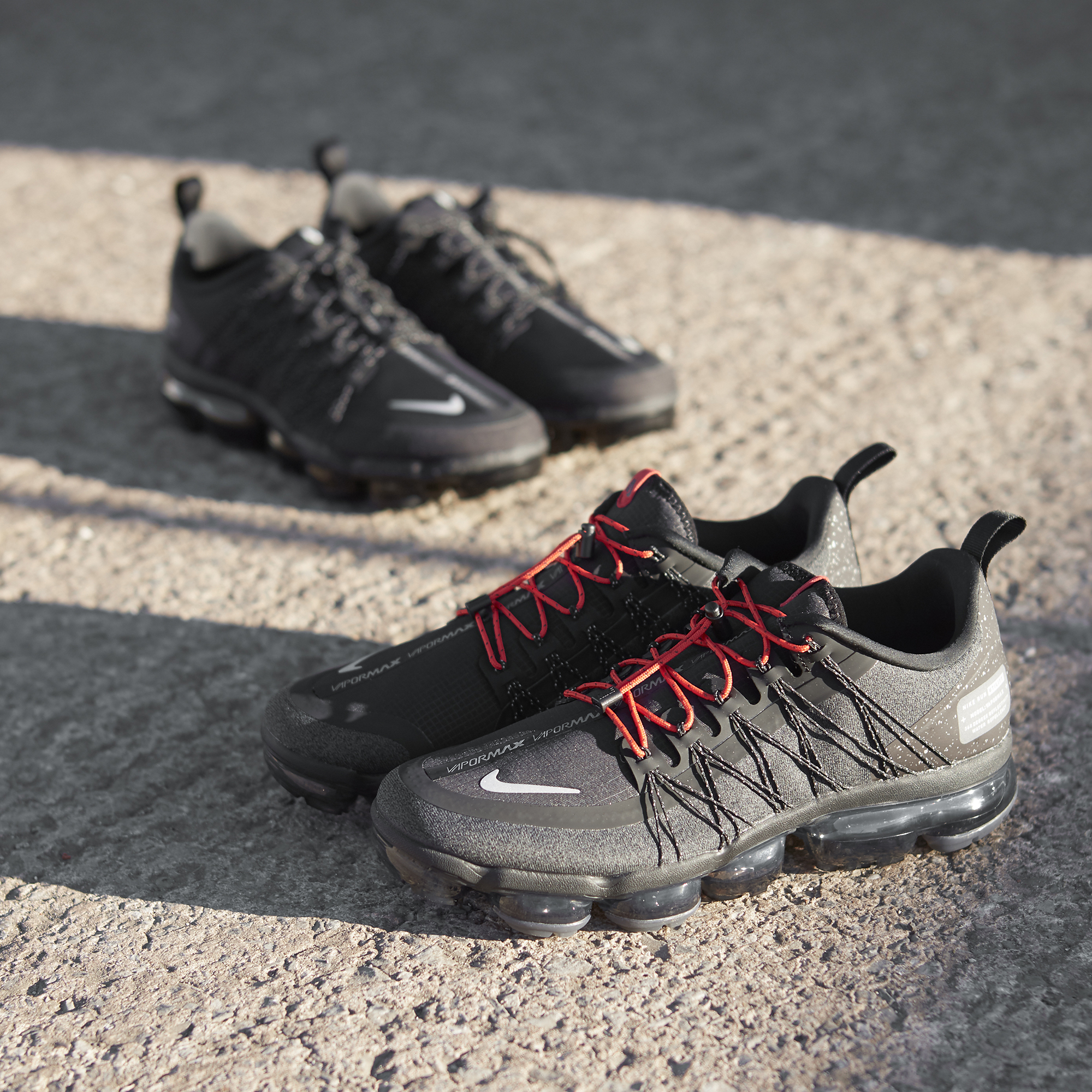 timeless design 94d70 39d77 Nike Air VaporMax Utility Run 'Black/Black' and 'Olive/Black ...