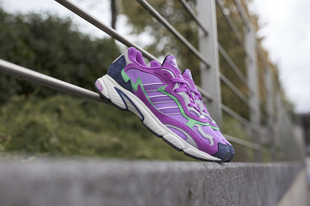 The adidas Originals Temper Run in Purple Suede