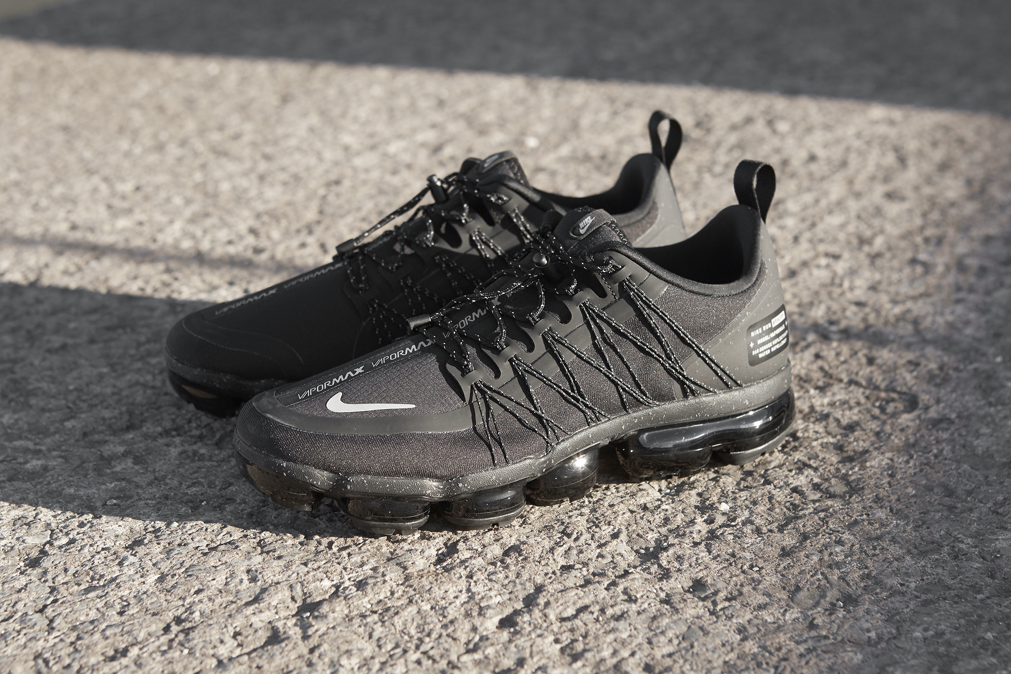 timeless design bc498 88e3e Nike Air VaporMax Utility Run 'Black/Black' and 'Olive/Black ...