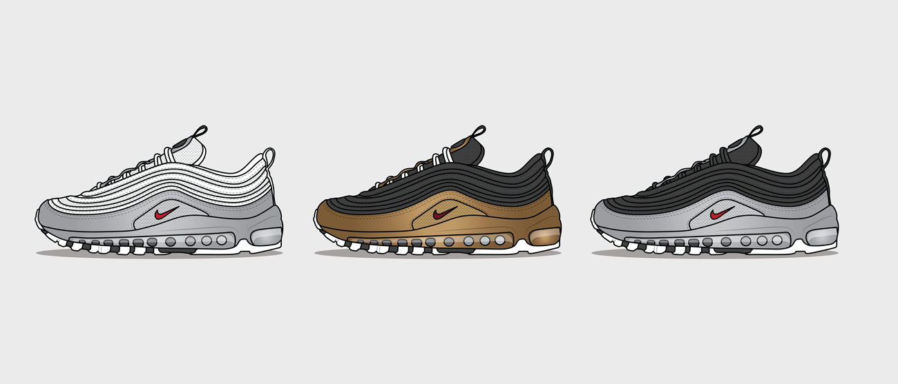 5a6505b06bed2a The Nike Air Max 97 QS  B-Sides  Pack will be available on the  size previews app and in selected size  stores on Friday 9th November