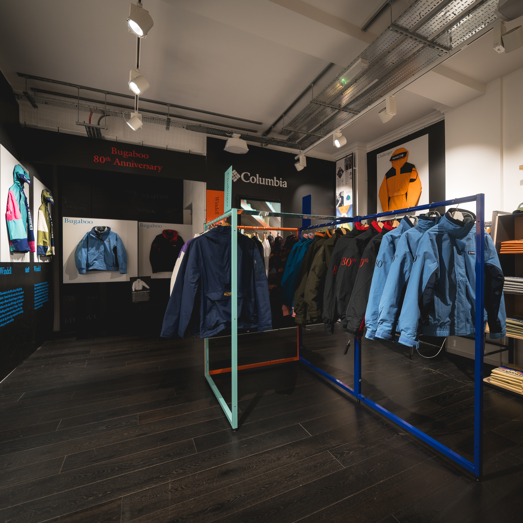 size? Carnaby Street x Columbia Pop Up