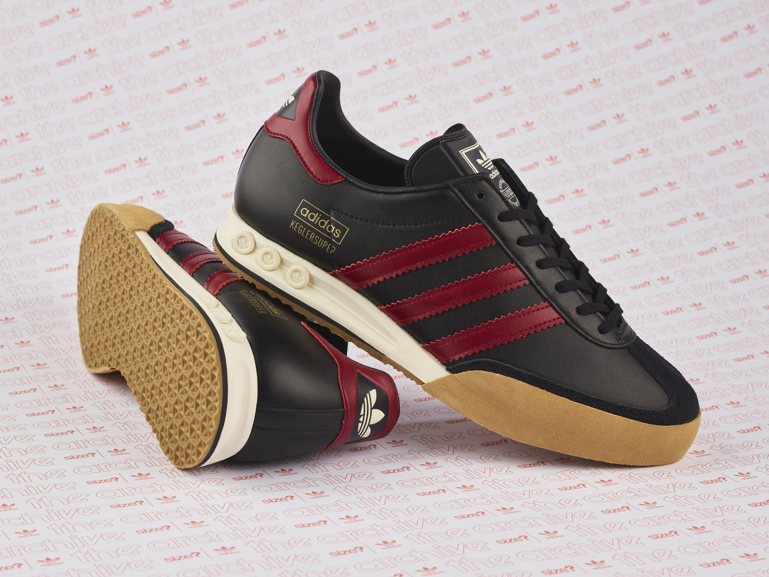 wholesale dealer c5c2e b0433 adidas Originals Archive Kegler Super OG BlackBurgundy – size Exclusive