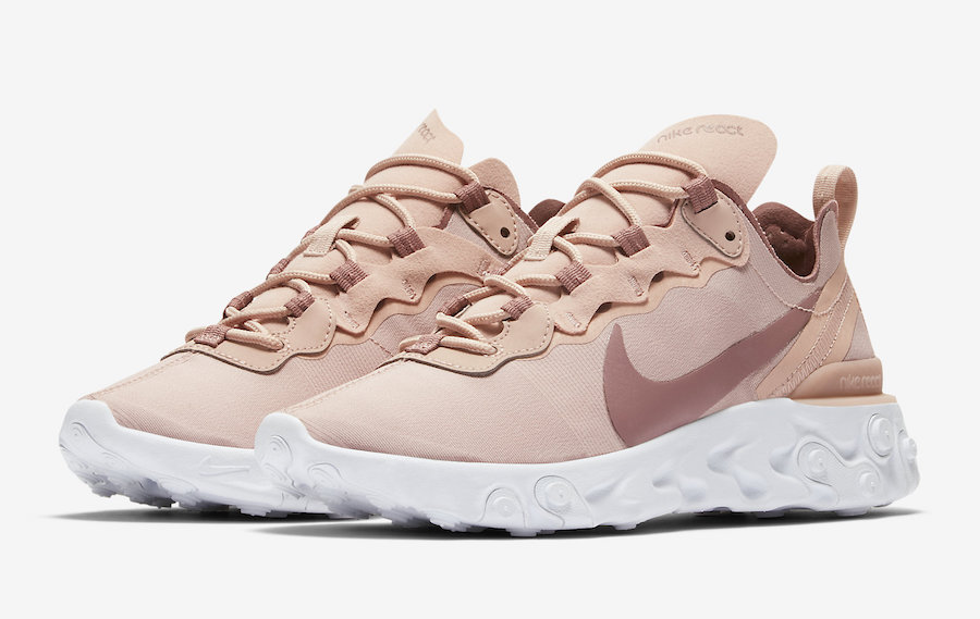 Nike React Element 55 Particle Beige