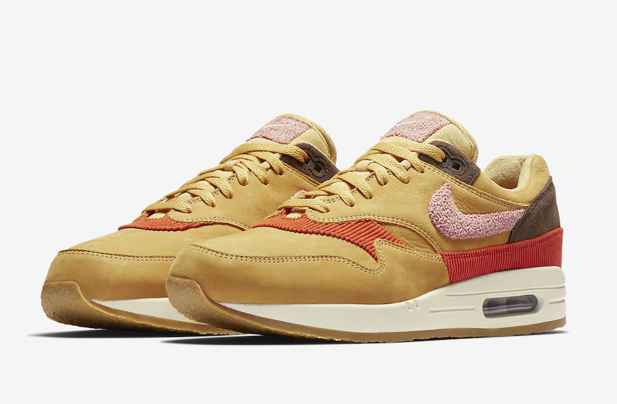 buy online db1a7 42aed Air Max 1 Wheat Gold