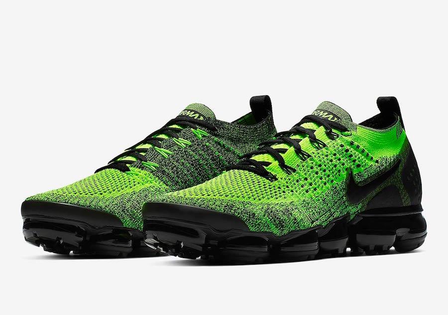 Nike Air VaporMax Flyknit 2.0 'Orca' & 'Neon Green'