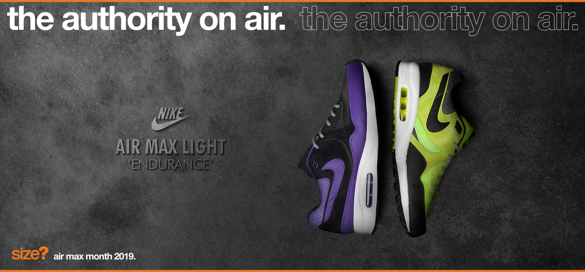 the authority on air: Air Max Light 'Endurance'