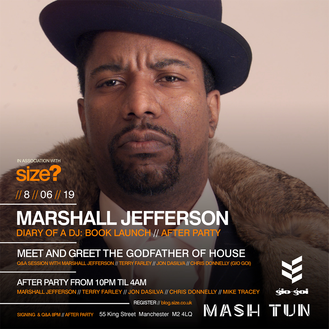 Marshall Jefferson: 'Diary of a DJ' Book Launch