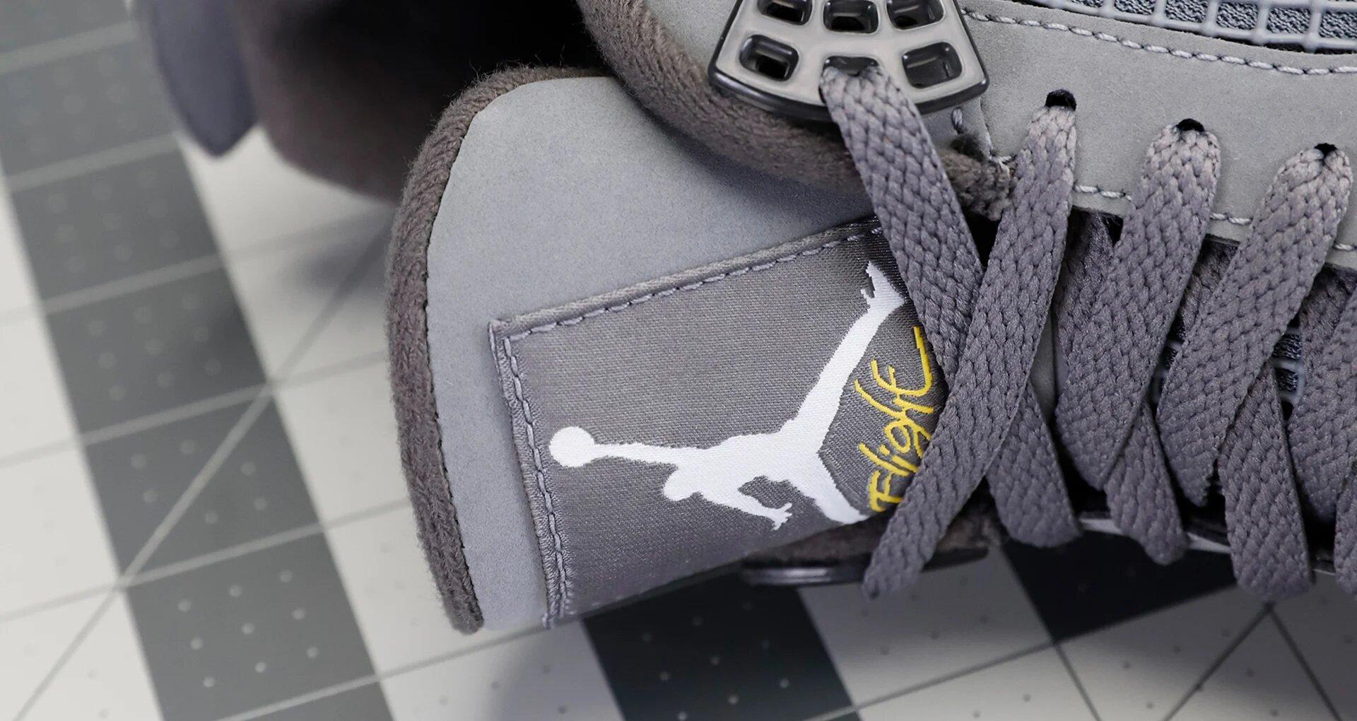 Air Jordan 4 Cool Grey Tongue Emblem