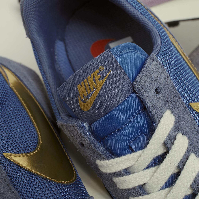 Nike Daybreak Blue Gold detail