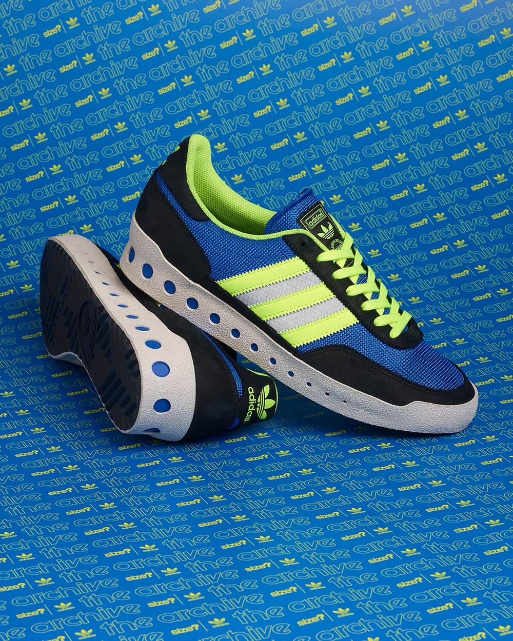 adidas Originals Training PT – size? Exclusive 'Blue/Lime Green' side panel