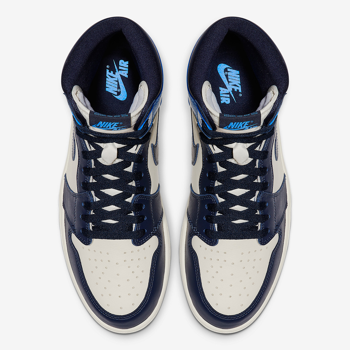 "Air Jordan 1 Retro High OG ""UNC"" Ariel View"