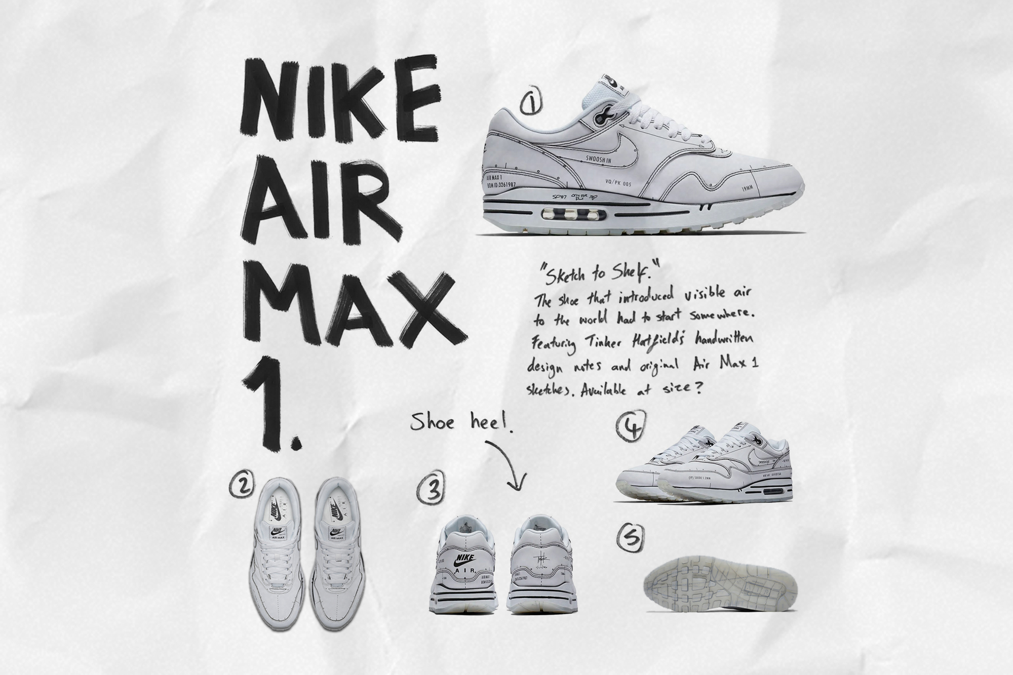 Air Max 1 'Sketch to Self'