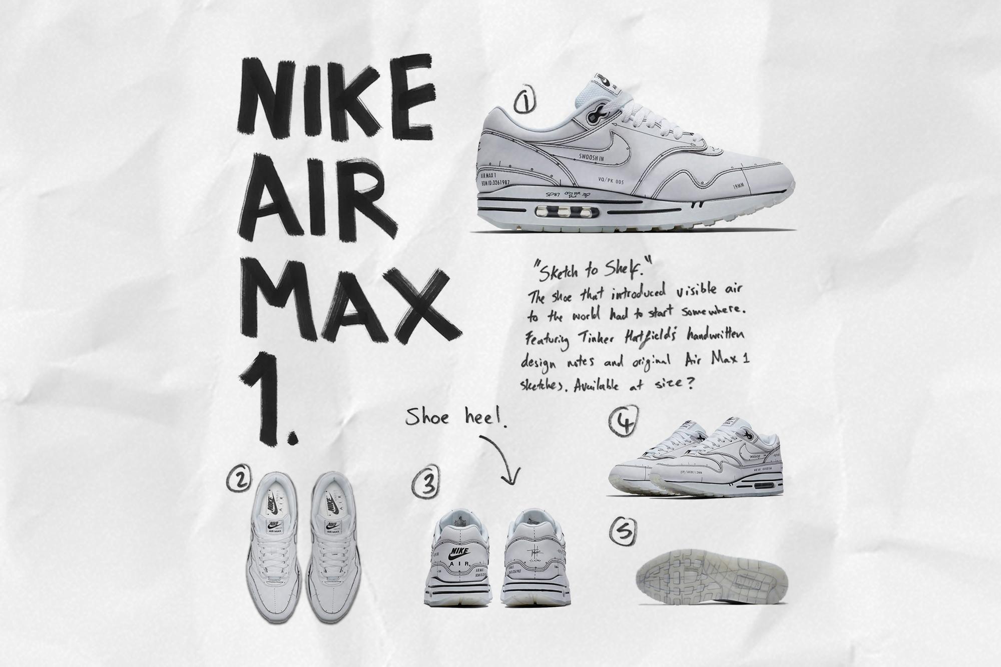 air max 1 sketch to self
