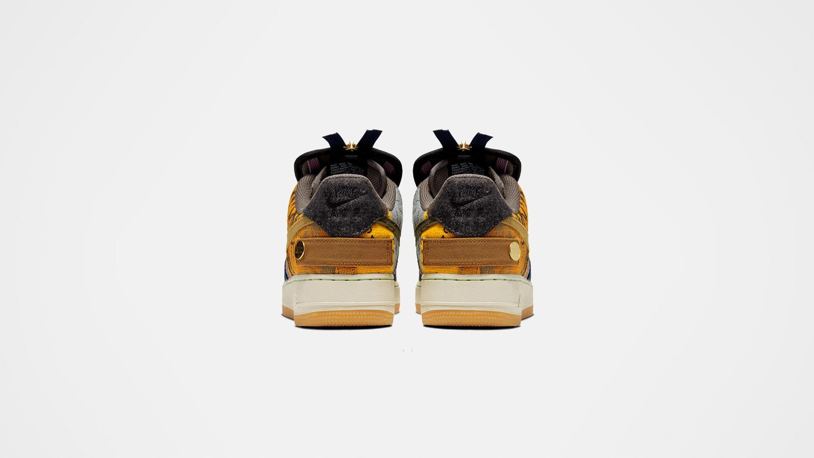 Travis Scott x Nike Air Force 1 Low Cactus Jack Heel Tab