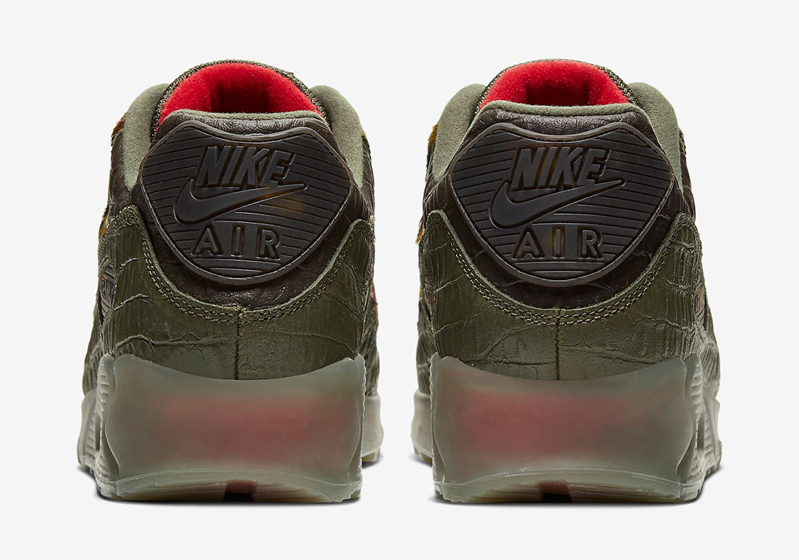 AM 90 Camo Croc heel
